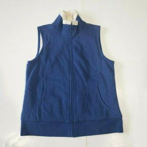 L.L. Bean Women's Medium Blue Zip-up Vest Blanket